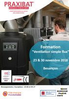 Formation ventilation simple flux (2 jours)
